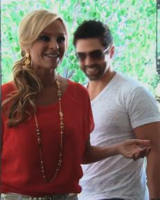 RHOC Season 8 Premiere Fashion: Tamra Barney's Red Blouse at Gretchen's House http://www.bigblondehair.com/real-housewives/rhoc/bebe-red-sheer-blouse-at-gretchens-house/