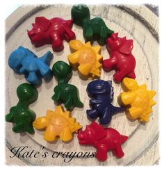 4 Handpoured Dinosaur crayons, made using only top quality non toxic Crayola wax. Can be ordered in any colour