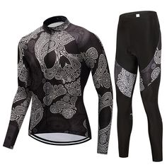 aeadb3f38  Click Image to Buy  FUALRNY Skeleton Spring Summer Long Sleeve Cycling  Jersey Suit Men