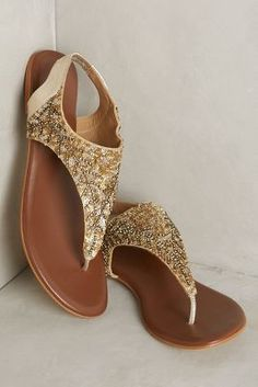 Deepa Gurnani Sequined Sandals #anthrofave