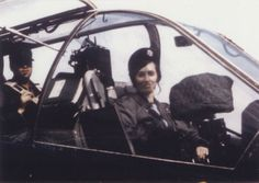 Charlotte Holder Clinger in the cockpit of a plane, circa 1970 - The Betty H. Carter Women Veterans Historical Project - University Archives - University Libraries-UNCG