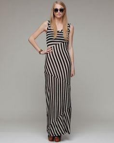 Block Stripe Maxi Dress    Aryn K.