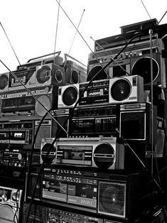 Wall of Boomboxes