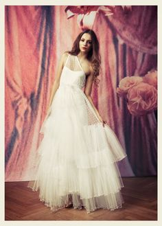 Ida Sjöstedt Couture Nightingale Swiss Dot One Shoulder Dress