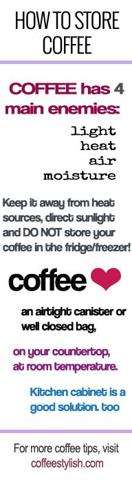 Few tips on how to properly store coffee at home.
