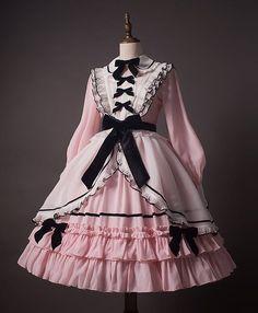Hinana -To Alice- Lolita Collar OP Dress the mint green is very nice Pastel Goth Fashion, Kawaii Fashion, Cute Fashion, Emo Fashion, Rock Fashion, Style Fashion, Pastel Punk, Fashion Details, Pretty Outfits