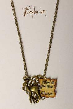 Always (Necklace) de Explorium sur DaWanda.com #harrypotter #snape #always