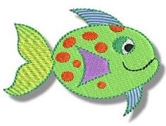 Fishie Friends Filled 1, SWAK Pack - 2 Sizes! | Tags | Machine Embroidery Designs | SWAKembroidery.com Bunnycup Embroidery