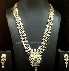 Jewellery Designs: Diamond Long Chain by Bombay Jewellers