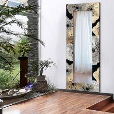 espejos vestidores con marcos decorados coleccion petunia dorado