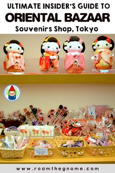 Roam the Gnome's Guide to the BEST JAPANESE SOUVENIRS shop in Tokyo. Buy all your authentic Japanese souvenirs & traditional Japanese gifts in one place. Japanese Gifts, Japanese Geisha, Japanese Outfits, Japanese Kimono, Tokyo Travel Guide, Japan Travel, Travel Tips, Asia Travel, Tokyo With Kids
