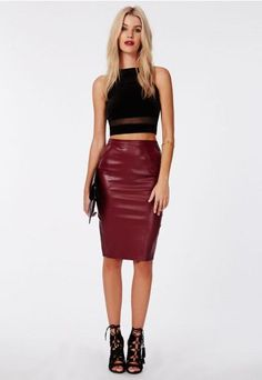 leather skort and top - Google Search