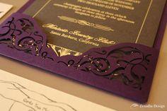 grey, purple, silver, vintage, art deco, plum, charcoal, foil stamp, laser cutting, 1920, Zenadia Design, eggplant, wed, wedding