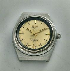 HMT Arjun Yellow Dial Mechanical 17 Jewels Men's wrist watch Vintage Collectible   eBay