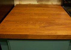 Numerar ikea oak countertop - staining