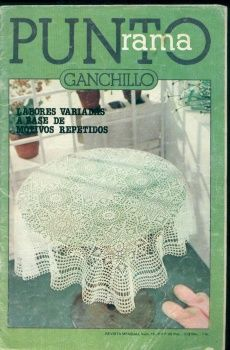 MAGAZINE: Puntorama crochet magazine ♥LCB-MRS♥ with diagrams. Most of them are filet work.