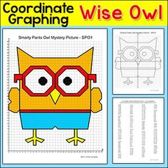 Practice plotting ordered pairs with this fun Smarty Pants Wise Owl coordinate graphing mystery picture! This activity is easy to differentiate by choosing either the first quadrant (positive whole numbers) or the four quadrant (positive and negative whole numbers) worksheet.