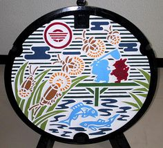 Manhole Cover , JAPAN. Design hatches in Japan has reached the level of national activity, and various state and municipal departments are fighting among themselves, who covers the design better.