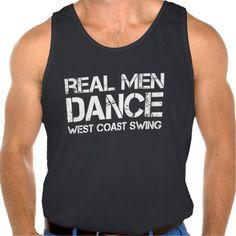 Real Men Dance West Coast Swing Tanks Tank Tops