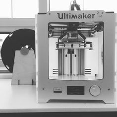 We have a closet full of 1.75mm  filament from our days of the Makerbot. The filament spools don't fit on our @ultimaker 2 Go so Brian one our Maker Facilitators whipped together a quick laser cut design to hold the spool. Now we can utilize all that old filament!#jocomakes