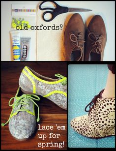 Upcycle: Re-lace your old Oxfords!