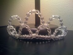 Beaded Tiara.  Made with pipe cleaners and beads.  Instructions can be found at Makingfriends.com