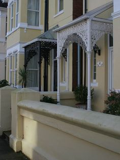 Cast iron filigree porches by Kate Jewell, via Geograph