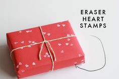Eraser Heart Stamps..... could make mini tree or initial stamps