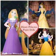 Printable Disney Princess Paper Dolls #Disney #DisneyPrincess