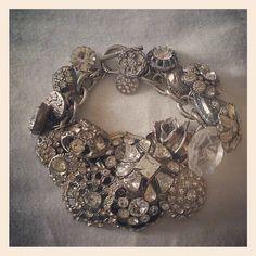 Vintage button bracelet--gorgeous