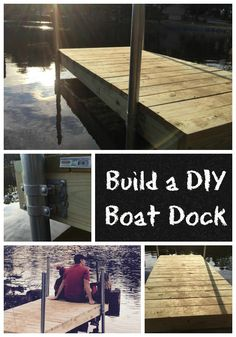 Building A Deck 158540849367328836 - Directions for Building a DIY Boat Dock – Have you always wanted to build your own boat dock? Check out our instructions and make it happen. Building A Dock, Lake Dock, Floating Dock, Lakefront Property, Boat Lift, Build Your Own Boat, Diy Boat, My Pool, Lake Cabins