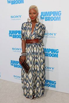 Maxi african print dress