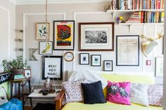 """Danielle- """"nothing in your home has to be permanent. I'm constantly adding and subtracting to the space. It feels like my home grows with me."""" 