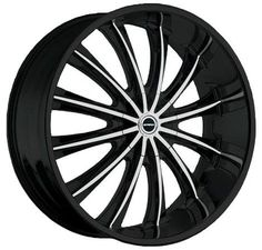 Strada Corona Machined Black Rim