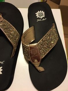 ddca03a7d01496 Women s Yellow Box Gold  amp  Black Sandals  fashion  clothing  shoes   accessories