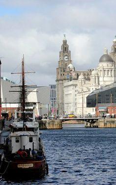 King Albert Docks in Liverpool, England