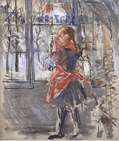 Berthe Morisot, L'Enfant au Tablier Rouge, a sketch