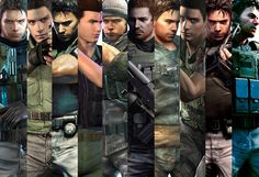 Many Faces Of Chris Redfield~ Gif by LeelalouiseLaraCroft.
