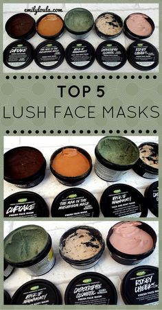 Top 5 LUSH Face Masks. Including Fresh Face Masks such as Cupcake, Mask of Magnaminty, Rosey Cheeks, Catastrophe Cosmetic & The Man in the Mushroom. On emilyloula beauty blog.