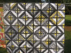 Gray and yellow  Quiltwithus.connectingthreads