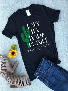 67e1d6cc Funny Christmas shirt • Arizona cactus shirt • cactus lover shirt • Christmas  shirt for women • Baby It's Warm Outside shirt • Christmas tee