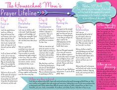 NEW FREE Homeschool Mom's Lifeline Prayer Guide!