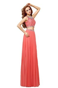 Ikerenwedding Women's Crystals Lace Top Zipper Two Piece Long Prom Dress Coral US04 Ikerenwedding http://www.amazon.com/dp/B00WQE56D4/ref=cm_sw_r_pi_dp_r0FKvb1HE7RHM