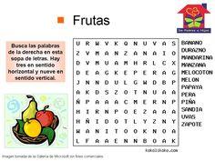 Sopa de letras: frutas                                                                                                                                                                                 Más