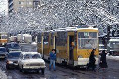 Bulgaria articulated tram nr 455, Sofia 100,  Jan 1995 by sludgegulper, via Flickr