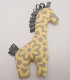 bright apple blossom: crafting a giraffe toy