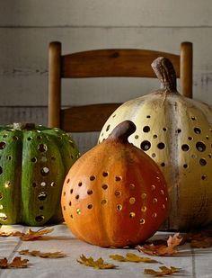 Paper Mache Pumpkin Luminaries #harvestdecor