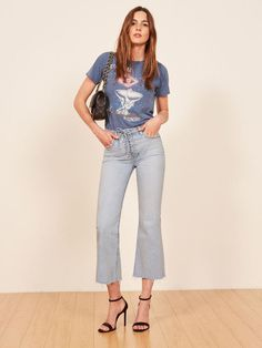 Reformation's jeans are a major throwback to the early 2000s, and I'm surprisingly into it.