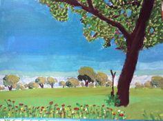 Árbol primavera#populares#paisajes#arte#acrilicos