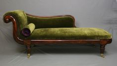 Regency Period Brazilian Rosewood Chaise Lounge by BouncingHare
